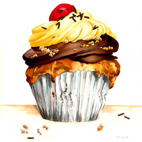 watercolor paintings of food